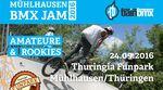 Am 24. September 2016 findet in Mühlhausen ein BMX-Contest für Amateure und Rookies statt. Mehr zu der Veranstaltung im Thunringia Funpark erfährst du hier.