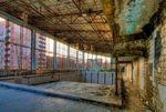 The abandoned swimming pool in Pripyat. Photo: Tim Suess