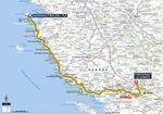 Die meiste Zeit führt die erste Etappe der Tour de France 2018 an der französischen Atlantikküste entlang.