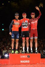Das Podium der Vuelta a España 2017: Chris Froome, Vincenzo Nibali, Ilnur Zakharin (Foto: Sirotti)