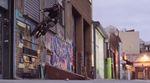 Durch die Straßen von New York City mit Mark Gralla, Mike Hoder, Ralphy Ramos, Matt Miller, Tyrone Williams und Garrett Hoogerhyde von Animal Bikes.