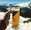 beer drinking mountains