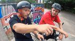 """Spannung pur! Hier entlang für die Streetviertelfinalläufe beim """"Game of BIKE""""-Turnier 2021 im Schlachthof BMX- und Skatepark Flensburg."""