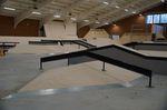 Das Hausdach mit A-Frame-Rail in der Skatehalle Oldenburg