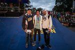 Die Gewinner des Streetcontests auf der Simple Summer Session 2017 in Riga (v.l.n.r.): Leon Hoppe (2.), Alex Donnachie (1.) und Daniel Tünte (3.)