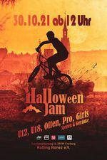 Am 10. Oktober 2021 lädt der Rolling Bonez e. V. zu einem BMX-Halloweenjam in die vereinseigene Halle ein. Hier erfährst du mehr.