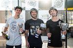 Die Gewinner des Vans BMX Pro Cup Regional Qualifiers in Málaga (v.l.n.r.): Ben Wallace (3.), Maxime Charveron (2.) und Chris James (1.)