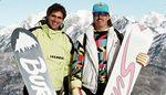 Zwei der Urväter des heutigen Snowboardens. Jake Burton und Tom Sims.