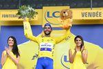 Einen besseren Start hätte sich der Kolumbianer bei seiner ersten Tour de France nicht träumen lassen dürfen: Etappensieg udn das gelbe Trikot an einem Tag. (Foto:)