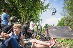 Der Abräumer des Highway to Hill 2018 mit dem besten Trick des Wochenendes über die Jumpbox von Rudis Resterampe: Zdenda Pešek, Barrel Roll Table