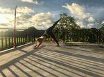 Surf Yoga Flow Pose 2: 3-legged Dog