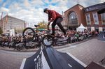 Footjam to Fakie vom Kiel-Local Marcel Prodittlich während des Best-Trick-Contests an der Spine