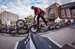 Footjam to Fakie vom Kiel-Local Marcel Prodittlich während des Best-Trick-Contests an der Spine