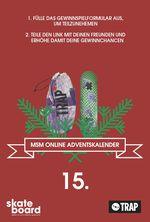 trap skateboards x monster skateboard magazine adventskalender