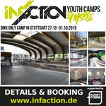 Vom 27. - 31. Oktober 2019 veranstaltet Infaction zum ersten Mal überhaupt ein BMX-Camp in Stuttgart und Umgebung. Hier erfährst du mehr.
