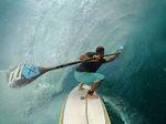 Loch Eggers. Standup Paddleboarding. Maalaea, Maui; Hawaii.
