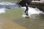Surfen Flosslände Thalkirchen