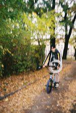 Unser Spotguide in Leipzig war selbstverständlich der frisch gebackene SIBMX-Teamfahrer und Einradvizeweltmeister Mimo Seedler, dessen Chef ihm extra zwei Tage lang spontan freigegeben hatte, damit er uns durch die Stadt führen konnte- Danke dafür!
