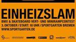 Minirampe- und Halfpipecontest in Bremen: Bereits zum 14. Mal findet am 3. Oktober 2018 der EinheizSlam im Sportgarten statt. Mehr dazu hier.