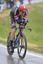Tom Dumoulin fuhr nicht den ersehnten Sieg beim Zeitfahren, aber schaffte es wieder unter die ersten zehn in der Gesamtwertung. Foto: Sirotti
