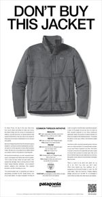Dont Buy This Jacket Patagonia advert