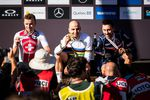 Mathias Flueckiger, Nino Schurter and Stephane Tempier