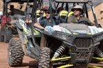 Paul Basagoitia, front left, arrives to watch practice at Red Bull Rampage in Virgin, UT, USA on 12 October, 2016; Foto: John Gibson/Red Bull Content Pool