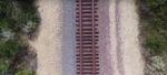 Die Bahnschienen bei Trestles.