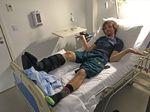 Sascha Bamberg hat sich im vergangenen Jahr sein rechtes Schien- und Wadenbein knapp über dem Sprunggelenk in viele Teile zertrümmert.