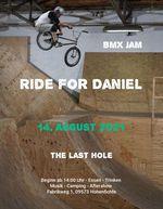 Im Gedenken an Daniel Richter findet am 14. August 2021 im The Last Hole Skatepark in Hohenfichte ein BMX-Jam statt.