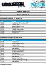 Hier ist der Zeitplan für den Alliance BMX Jam auf der Passion Sports Convention 2016