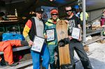 Podium No School Men: 1. Ueli Kestenholz (CH) 2. Tino Weittstock (D) 3. Adam Pauli (AT)