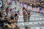 6. Etappe - Großartig gekämpft und am Ende belohnt, André Greipel (Lotto-Bellisol) schlägt zwischen Epernay und Nacy gnadenlos zu. (Foto: Sirotti)