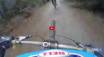 Verfolgungsjagd - Danny Hart Following Bas Van Steenbergen down Dirt Merchant in Whistler.