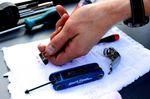 Shimano R785 hydraulic disc brake, fluid syringe, pic: Timothy John, ©Factory Media