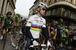 Der frischgebackene Weltmeister beim Start des Giro di Lombardia (Foto: Sirotti)