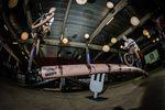 Münchenlocal Lubos Durchan mit einem Railride to 180 Bars an der Skate-Green-Wurst