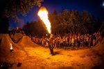 Im Anschluss an den Dirtcontest wurde noch eine Feuershow geboten, was die angrenzenden Bäume wahrscheinlich nicht ganz so toll fanden