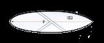 Das Kanoa Escalator verfügt über ein Pin Tail.