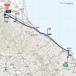 Von Osimo nach Imola: Die Strecke der zwölften Giro-Etappe.
