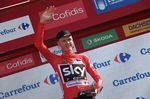 Chris Froome bleibt nach der 4. Etappe weiterhin in Führung und im roten Trikot (Foto: Sirotti)