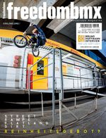 Die freedombmx 123 kommt u.a. mit folgenden Themen: Interviews mit Bruno Hoffmann, Markus Reuss und Björn Heyer, Karneval in Köln, das BMX-Reinheitsgebot uvm.