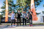 Die Gewinner des Pro-Finales bei der Ride Further Tour in Hard (v.l.n.r.): Kriss Kyle (1.), Alex Hiam (2.), Greg Illingworth (3.) und Tobias Freigang (4.); Foto: alex Grüber