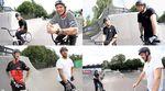 """Während der Parkviertelfinalläufe beim """"Game of BIKE""""-Turnier im Schlachthof Flensburg gingen nicht nur Fahrradteile zu Bruch."""