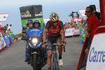 Für Nibali war heute ein enttäuschender Tag: Er musste Froome und seine Mitstreiter am Anstieg zum Ziel ziehen lassen. (Foto: Sirotti)