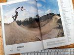 Daan van der Linden auf der Inhaltsseite von Ausgabe 325 des Monster Skateboar Magazines