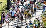 Das Peloton erreichte geschlossen das Ziel. Es kam zu keinen nennenswerten Angriffen, Geraint Thomas führt weiterhin in der Gesamtwertung vor Chris Froome und Tom Dumoulin. (Foto: ©ASO/Pauline Ballet)