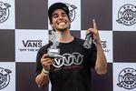 Kevin Peraza gewann mit einem Flairwhip über die Spine den Best-Trick-Contest auf dem VANS BMX Pro Cup 2019 in Mexiko