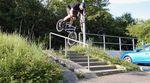 Kalle Frank hat den Sommer genutzt, um fleißig Clips für Da Crew. und The Fella BMX auf den Straßen von Schweinfurt zu filmen. Hier geht