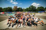 Beste Crew: die Teilnehmerinnen und Teilnehmer des BMX Männle Turniers 2018 im Skatepark Tuttlingen